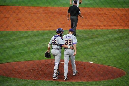 LSU Pitcher and Catcher